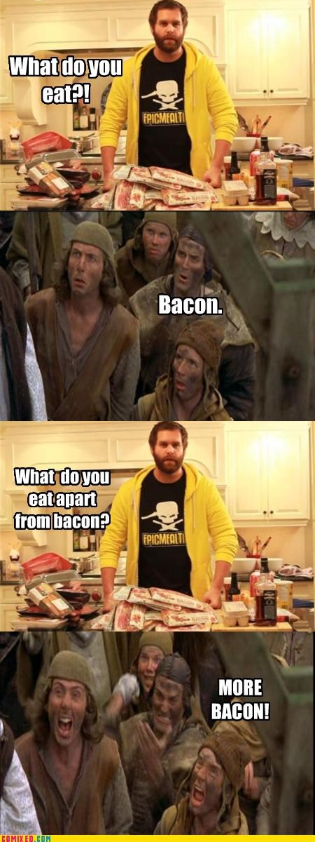 bacon,epic meal time,From the Movies,monty python