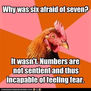 Anti-Joke Chicken: Seven Eight Nine? I Can Count, Too