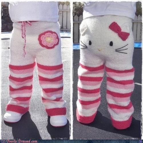 hello kitty Knitted pants