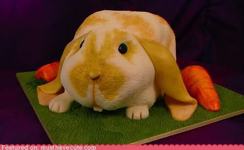 bunny cake carrot detailed epicute fondant - 4733133056