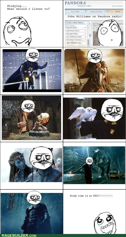 Avatar batman john williams Rage Comics school studying - 4733434112
