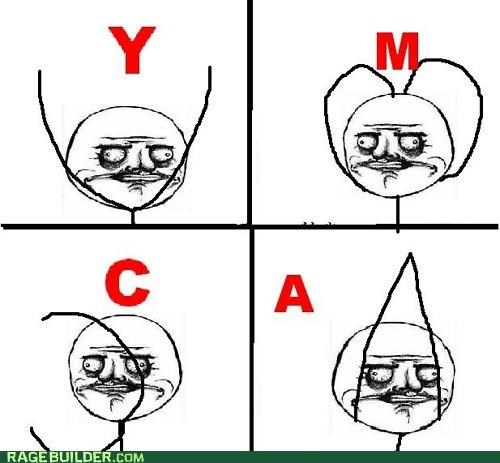 fun,Rage Comics,Songs,village people,ymca