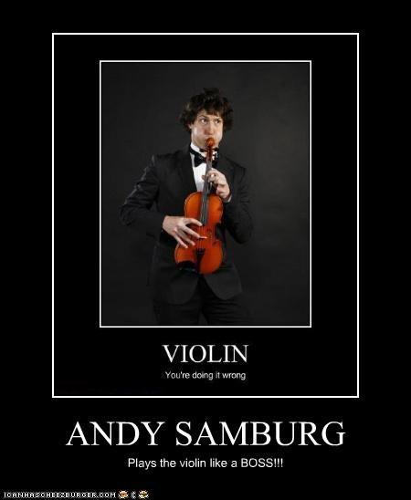 ANDY SAMBURG Plays the violin like a BOSS!!!