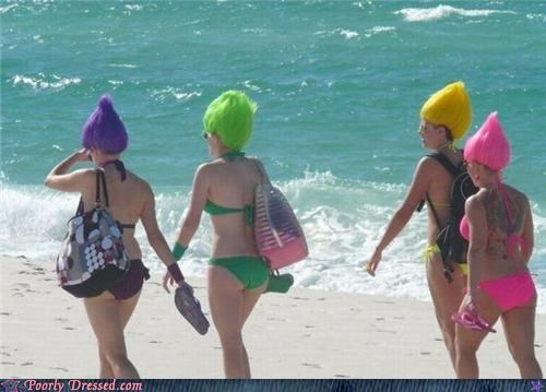 beach,swimsuit,Troll Doll,wigs