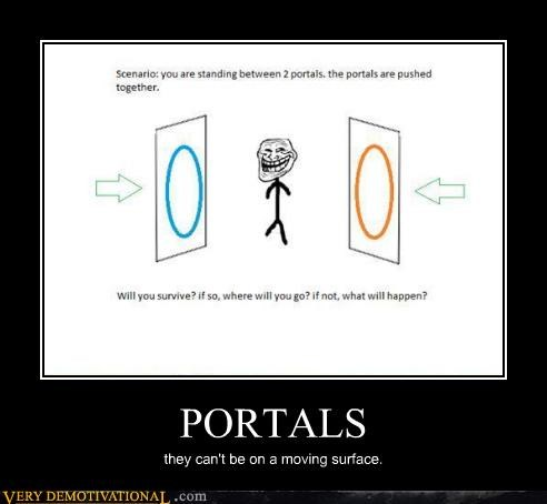 hilarious moving surface portals troll