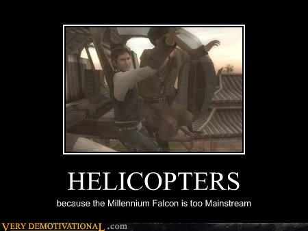 Han Solo helicopters hilarious mainstream