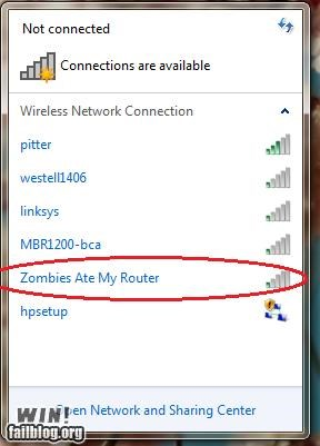 clever nerdgasm technology wifi zombie