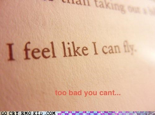 you cant fly