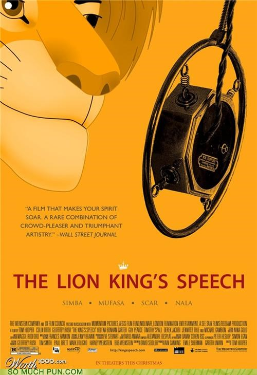 juxtaposition literalism mashup Movie movies mufasa simba the-kings-speech the lion king - 4735610368