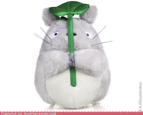 hide leaf plushy rain totoro - 4735771648