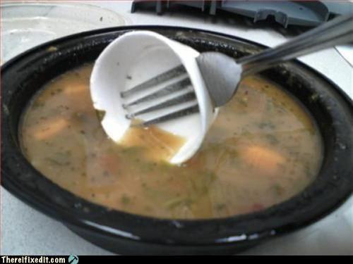 classic dual use fork spork styrofoam utensil - 4736093184