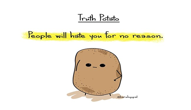 truths truth potato cheezcake funny animals - 4736261