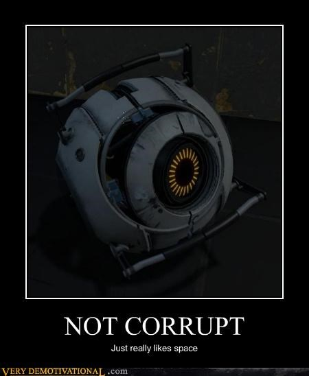 corrupt,gladOS,hilarious,portal 2,space,video games