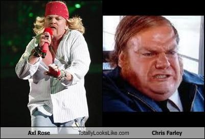actors,axl rose,chris farley,fat,guns and roses,musicians