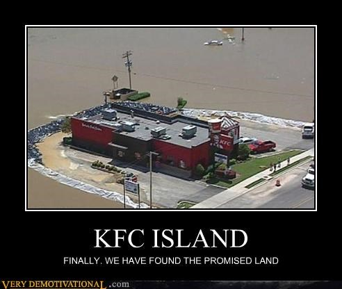 KFC ISLAND FINALLY. WE HAVE FOUND THE PROMISED LAND
