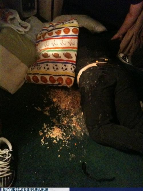 crime scene,eww,passed out,vomit