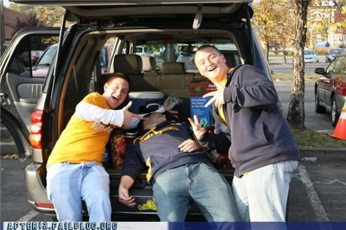 passed out tailgating trunk - 4738415360