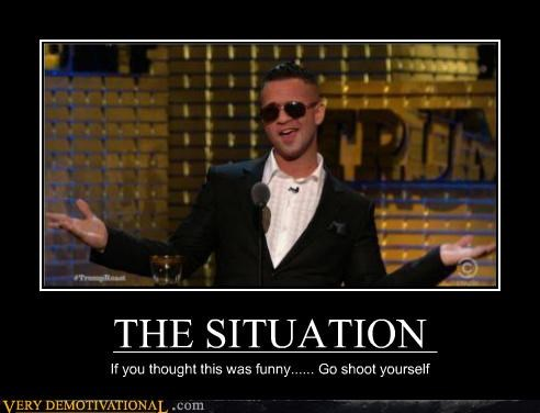 idiots jersey shore situation wtf - 4738459136