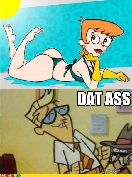 cartoons,dexters-laboratory,rear end
