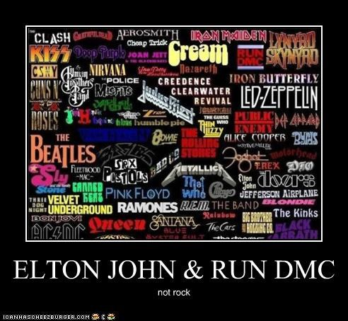 ELTON JOHN & RUN DMC not rock