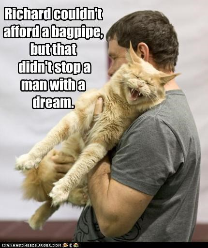 afford bagpipe best of the week caption captioned cat couldnt didnt do not want dream Hall of Fame I Can Has Cheezburger instrument man Music playing stop trying undeterred