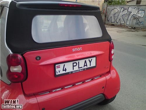 cars clever license plate smart cars - 4739258368