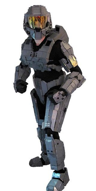 Ben Caulkins,Fan Art,halo,lego,legos,master chief