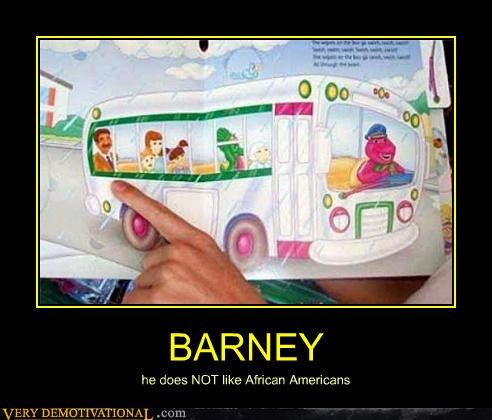 african americans,barney,hilarious,racist