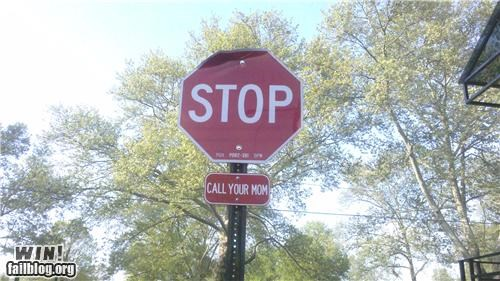 hacked mothers day stop sign - 4740480512