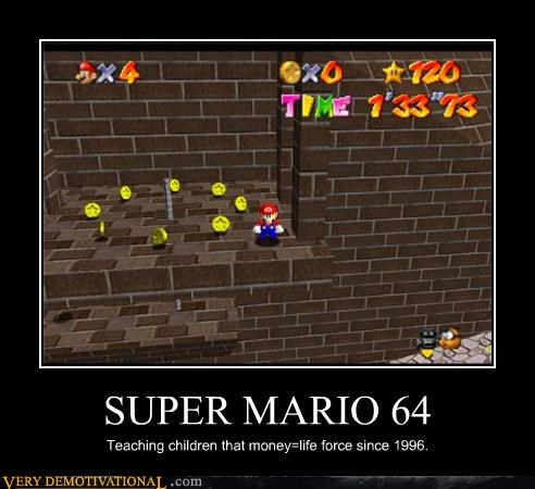 hilarious life money super mario 64 video games