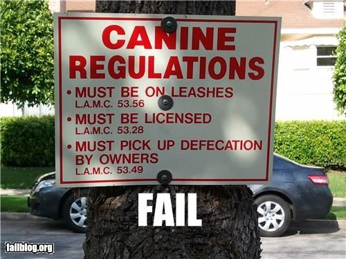 animals dogs failboat g rated oddly specific phrasing poop signs - 4741155072