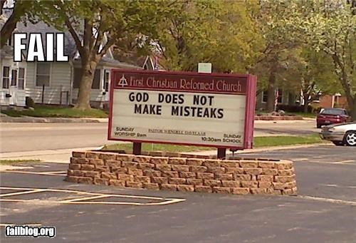 church signs failboat g rated mistake religion spelling