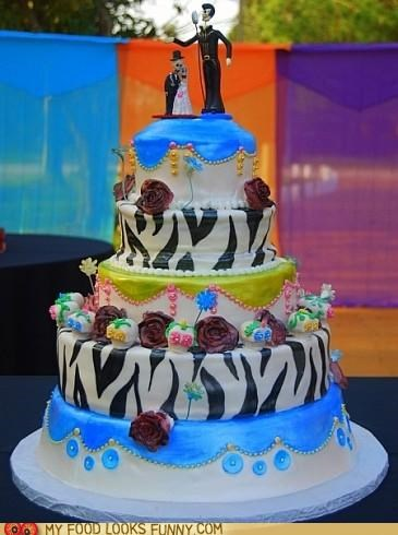 cake,layers,roses,skeletons,zebra