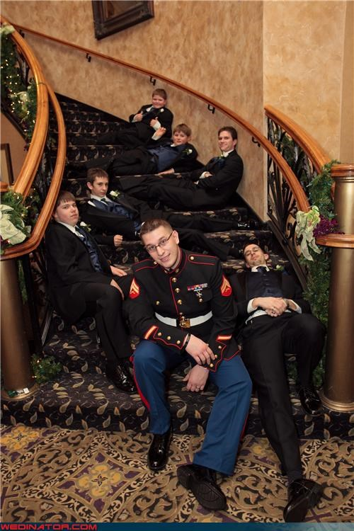 funny wedding photos Groomsmen soldiers - 4741463040
