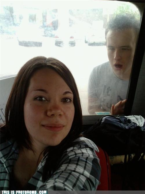 Awkward,bus,creeper,girl