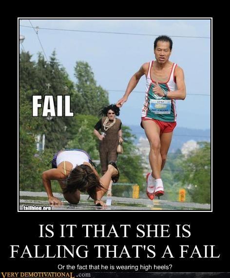 falling high heels hilarious race - 4742117120
