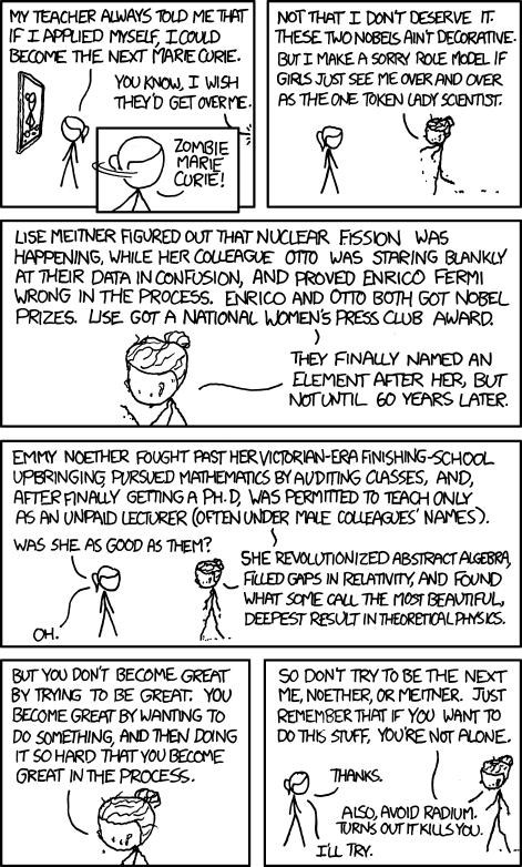 comics,marie curie,webcomics,xkcd,zombie