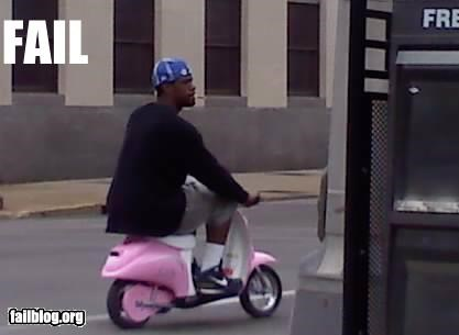 cute failboat gangster g rated pink scooter - 4742469376