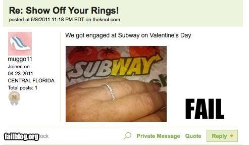 classy engagement failboat fast food g rated marriage Subway - 4742861568