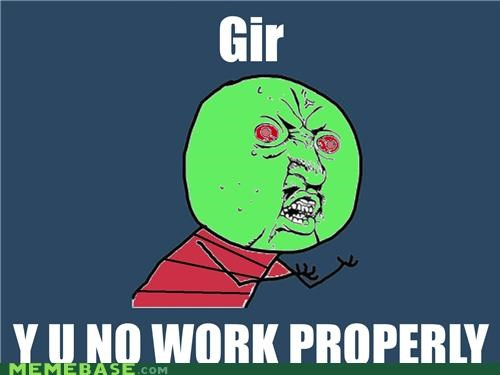 cartoons GIR invade robots work Y U No Guy zim - 4742921472
