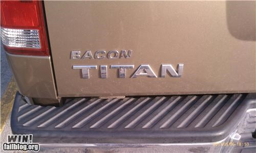 bacon,cars,trucks