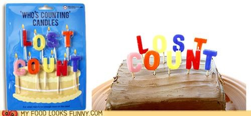 birthday cake candles lost count old over the hill - 4743279360