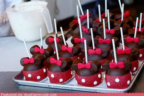 bows cake pops disney ears epicute minnie mouse polka dots