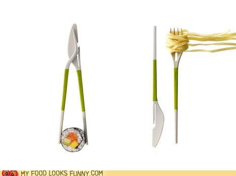 chopsticks fork knife utensils versatile - 4743335936