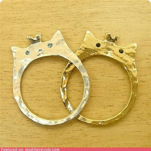 accessories crowns gold Jewelry kitties rings royalty silver - 4743585024