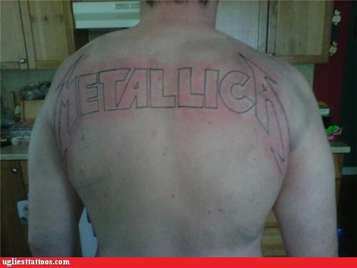 metallica logos tattoos funny - 4743676928