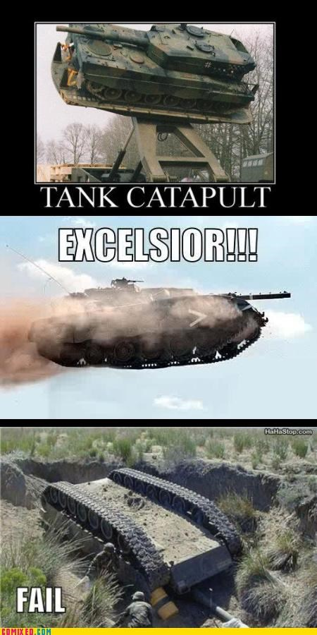 catapult flying tank