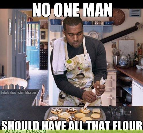 flour,kanye,kanye west,literalism,lyrics,my beautiful dark twisted fantasy,parody,power,rhyme,rhyming,similar sounding,single,song