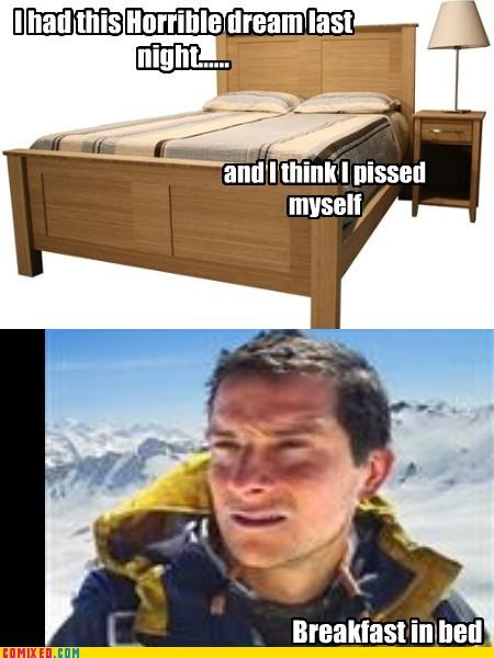 bear grylls,bed wetting,the internets