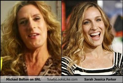 Michael Bolton on SNL Totally Looks Like Sarah Jessica Parker
